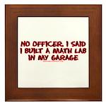 I Said I Built A Math Lab Framed Tile