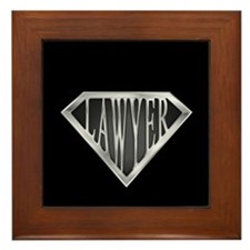 SuperLawyer(metal) Framed Tile