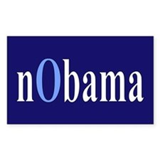 Baby Blue nObama Rectangle Bumper Stickers