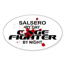 Salsero Cage Fighter by Night Oval Decal