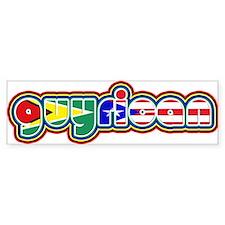 Guyrican Bumper Bumper Sticker