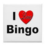 I Love Bingo Tile Coaster