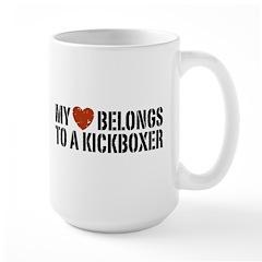 My Heart Belongs to a Kickboxer Large Mug