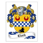 Clark Family Crest Small Poster
