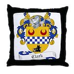 Clark Family Crest Throw Pillow
