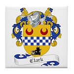 Clark Family Crest Tile Coaster
