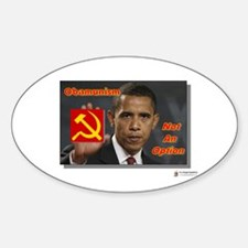 Obamunism not an option Oval Decal