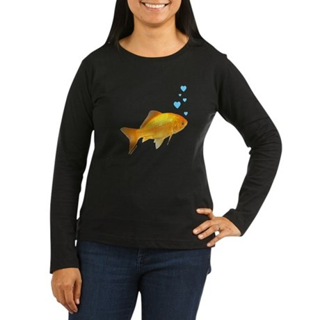GOLDFISH Women's Long Sleeve Dark T-Shirt
