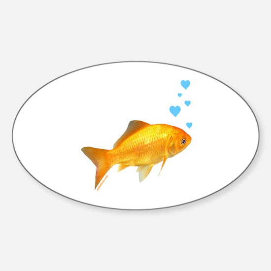 GOLDFISH Oval Decal