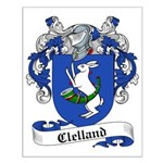 Clelland Family Crest Small Poster
