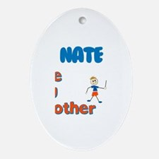 Nate - The Big Brother Oval Ornament