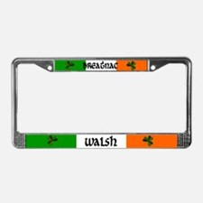 Walsh in Irish & English License Plate Frame