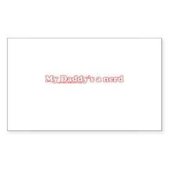My Daddy's A Nerd Rectangle Sticker 10 pk)