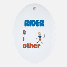 Rider - The Big Brother Oval Ornament