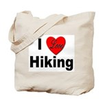 I Love Hiking Tote Bag