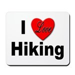I Love Hiking Mousepad