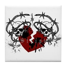 Barbed Wire Heart Tile Coaster