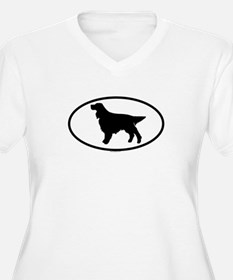 GORDON SETTER Womes Plus-Size V-Neck T-Shirt