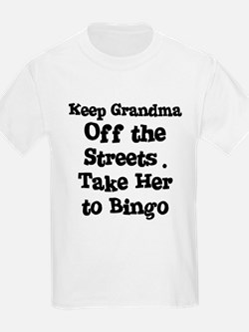 Keep Grandma Off the Streets Kids T-Shirt