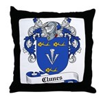 Clunes Family Crest Throw Pillow