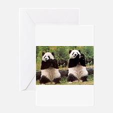 panda-1 Greeting Cards