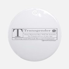 The T Contents Ornament (Round)