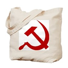 Red Hammer & Sickle Tote Bag