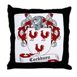 Cockburn Family Crest Throw Pillow