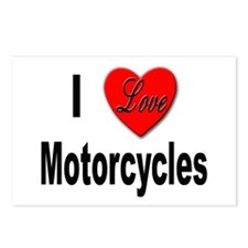 I Love Motorcycles Postcards (Package of 8)