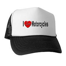 I Love Motorcycles Trucker Hat