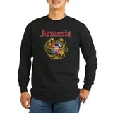 Armenian coat and flag Long Sleeve T-shirts (Dark)