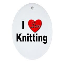 I Love Knitting Keepsake (Oval)