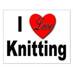 I Love Knitting Small Poster