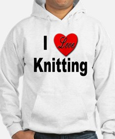 I Love Knitting (Front) Hoodie