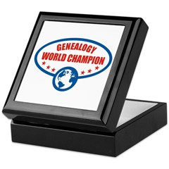 Genealogy World Champion Keepsake Box
