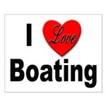 I Love Boating Small Poster