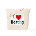 I Love Boating Tote Bag