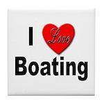 I Love Boating Tile Coaster