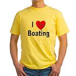 I Love Boating Yellow T-Shirt