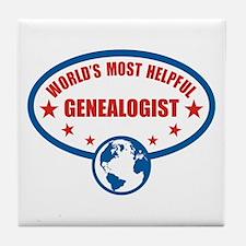 Most Helpful Genealogist Tile Coaster