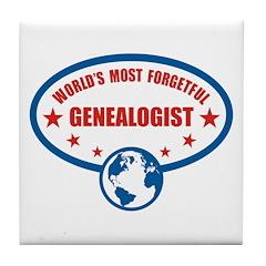 Most Forgetful Genealogist Tile Coaster
