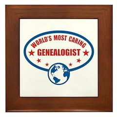 Most Caring Genealogist Framed Tile