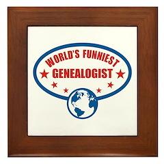 Worlds Funniest Genealogist Framed Tile