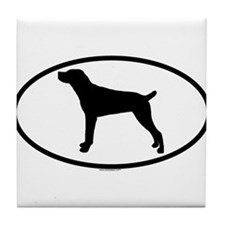 MOUNTAIN CUR Tile Coaster