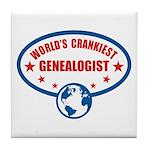 Worlds Crankiest Genealogist Tile Coaster