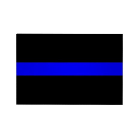 The Thin Blue Line Rectangle Magnet (10 pack)