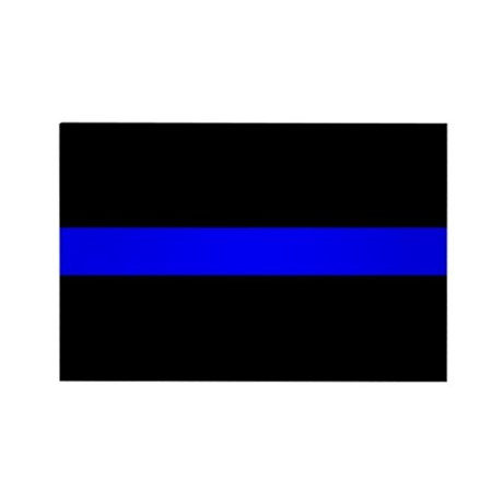 The Thin Blue Line Rectangle Magnet
