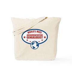 Argumentative Genealogist Tote Bag