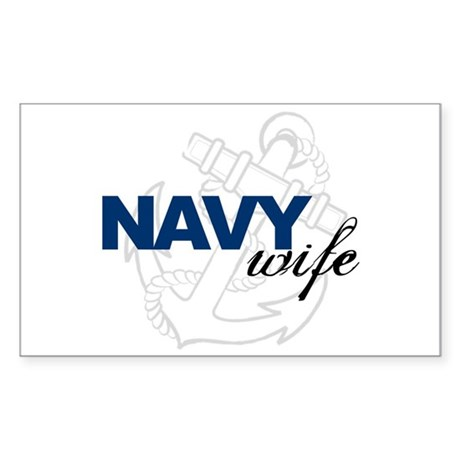 Navy Wife Rectangle Sticker