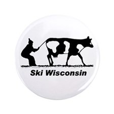 "Ski Wisconsin 3.5"" Button (100 pack)"